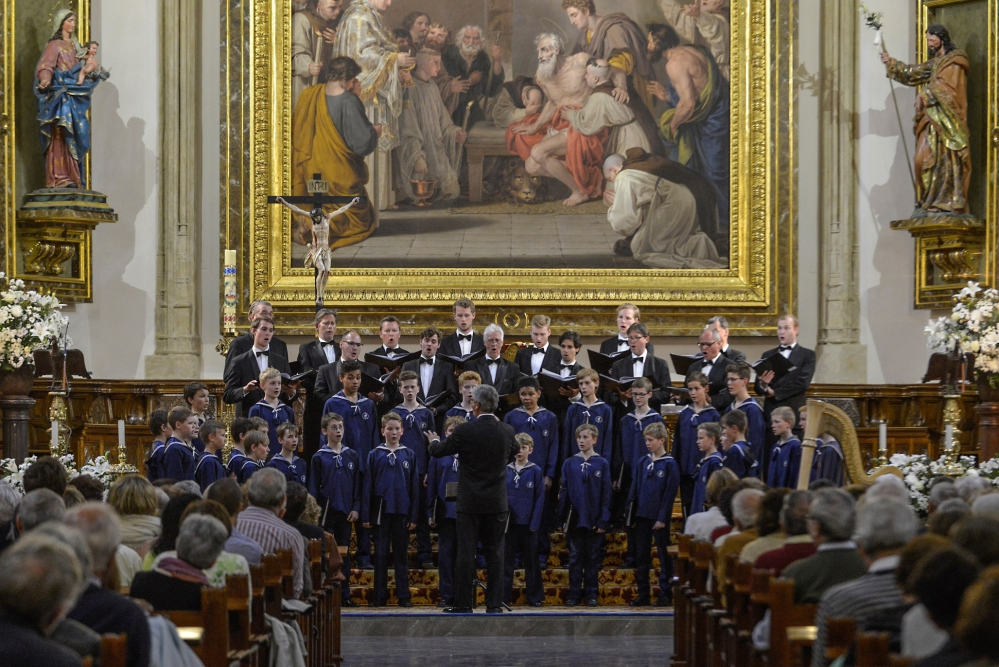 Copenhagen Royal Chapel Choir at Parroquia de San Jerónimo de Madrid- - Ebbe Munk, Director May 2014- Photo by Juanlu Vela