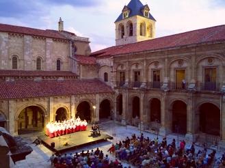 Phoenix Boysi singing at San Isidoro MOnastery in Leon- SpainConcert Tour -June 2014