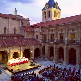 Phoenix Boysi singing at San Isidoro MOnastery in Leon- SpainConcert Tour -June 2014